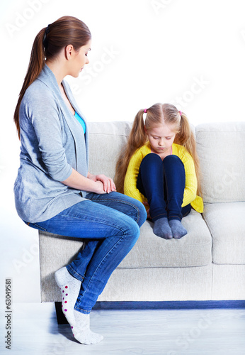 Relationship of mother and daughter.