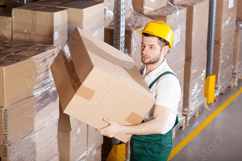 Worker in warehouse