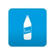 Etiqueta tipo app azul simbolo botella de cerveza