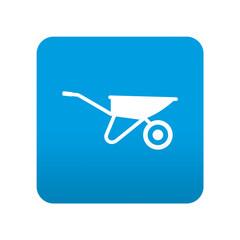 Etiqueta tipo app azul simbolo carretilla