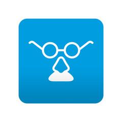 Etiqueta tipo app azul simbolo disfraz