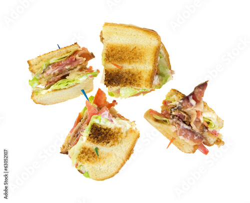 BLT On White Background Top View