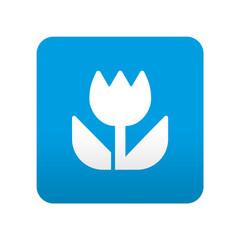 Etiqueta tipo app azul simbolo macro