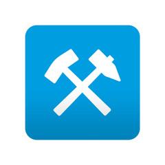 Etiqueta tipo app azul simbolo mineria