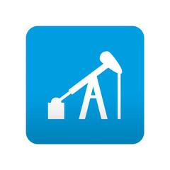 Etiqueta tipo app azul simbolo campo petrolifero