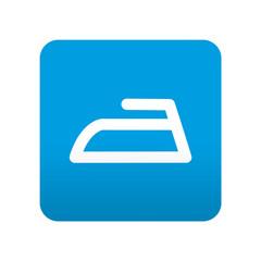 Etiqueta tipo app azul simbolo plancha