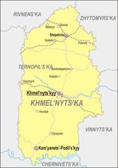 Map of Khmelnytskyi Oblast
