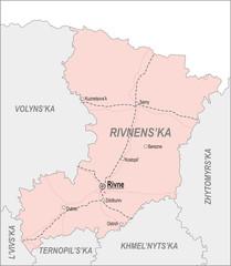 Map of Rivne Oblast