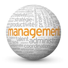 """Globe - Nuage de Tags """"MANAGEMENT"""" (ressources humaines équipe)"""