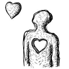 il cuore si distacca