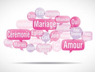 nuage de mots bulles : mariage (cs5)
