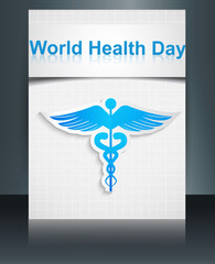 World health day template medical background brochure reflection