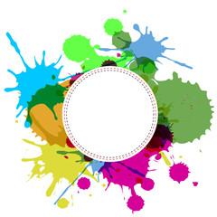 баннер цветные брызги