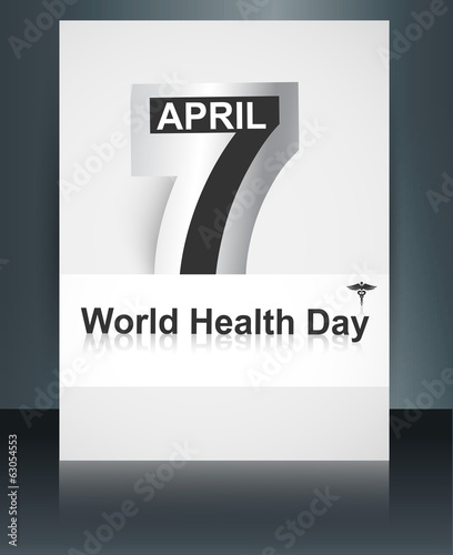 Beautiful Brochure 7 April text world health day caduceus medica