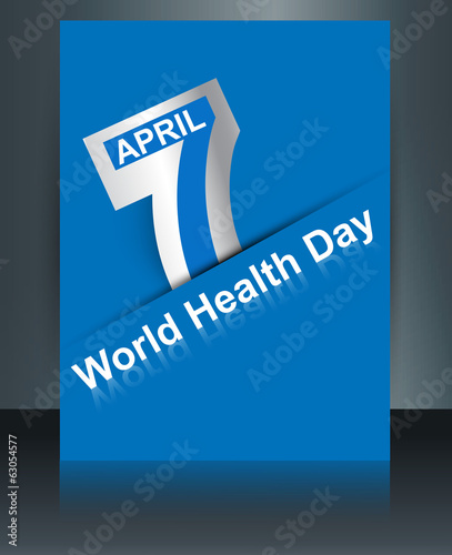 Beautiful text 7 April world health day reflection brochure back