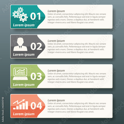 Infographic label template design for business advertise