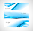 Abstract blue header stylish wave whit background vector illustr