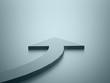 Blue business concept arrow