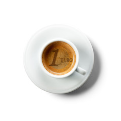 Cost of a cap of coffe