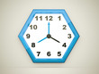 Blue hexagonal clock