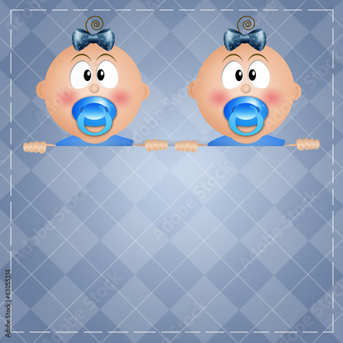 two twin boys