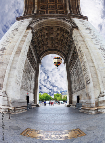 The Triumphal Arch in Paris