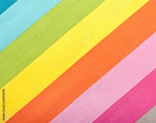 Colorful diagonal stripes fabric texture for background
