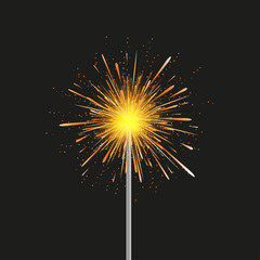 Vector sparkler modern background. Eps 10 illustration