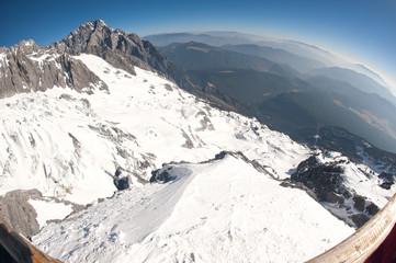 Viewpoint of Jade dragon snow mountain,Lijiang,Yunan,China.