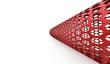 Red hexagonal abstract mesh