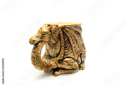 canvas print picture Beer mug in the form of a dragon