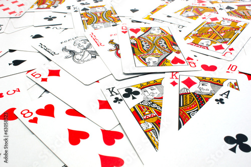 Mixed playing cards