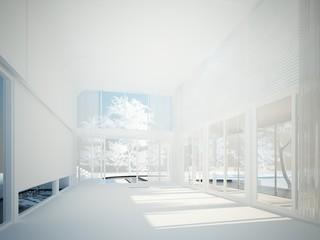 3d render of interior hall