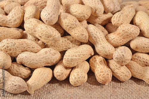 Peanuts in a sacking