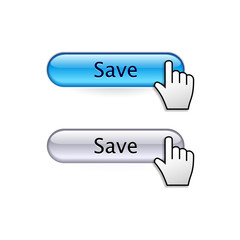 Buttons with cursor hand. Save button.