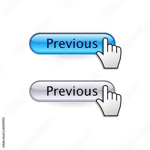 Buttons with cursor hand. Previous button.