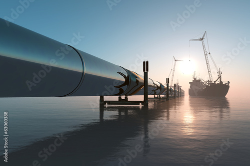 Leinwandbild Motiv Pipeline