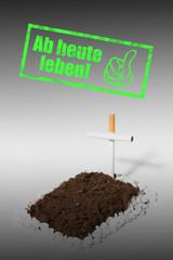Rauchen aufhören ab heute leben Stempel