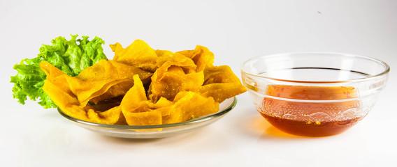 Fried dumplings :chinese food,asian food
