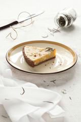 Piece of White Chocolate Rosemary Tart