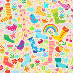 Socks seamless pattern