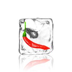 Chili im Eiswürfel
