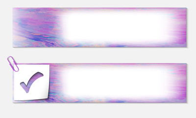 set of two banners with the texture and check box