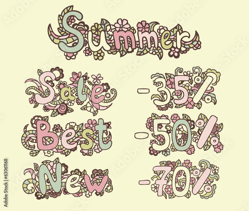 SUMMER, SALE, BEST, NEW, -35%, -50%, - 70%