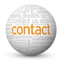 """CONTACT"" Tag Cloud Globe (call us details customer service FAQ)"