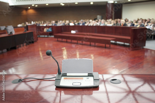 microphone at prosecution