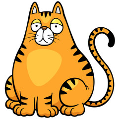 Vector illustration of Cat cartoon
