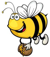 Vector illustration of Cartoon Bee