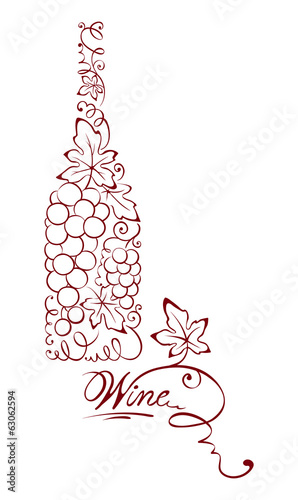 Illustration -- abstract wine bottle