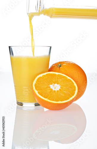 Orange Juice in glass with Splash